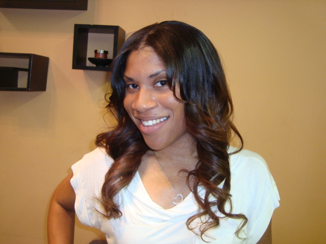 Invisible Part Sew in with Curly Hair