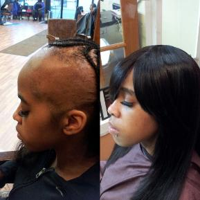Savads hair studio before after hair extension pictures in chicago pmusecretfo Gallery